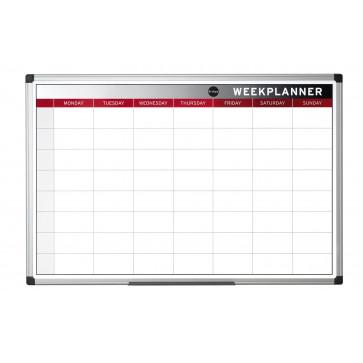 Tabla de planificare, saptamanala, rama din aluminiu, 90 x 60cm, BI-OFFICE