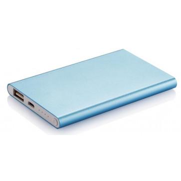 PowerBank slim XINDAO, albastru, 4000mAh