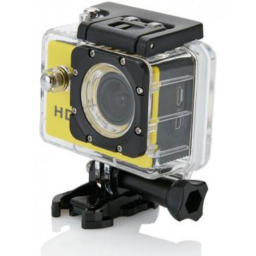 Camera video sport XINDAO, 11 accesorii, galben