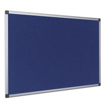 Panou din material textil albastru, rama din aluminiu, 90 x 60cm, BI-OFFICE