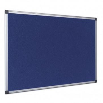 Panou din material textil albastru, rama din aluminiu, 120 x 90cm, BI-OFFICE