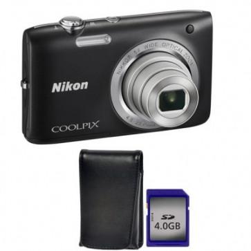 Camera foto digitala, 20.1 Mp, 5x, 2.7 inch, geanta + card SD 4GB, NIKON Coolpix S2800