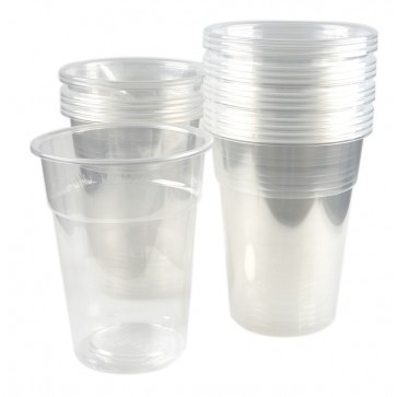 Pahare transparente, 40 buc/ set, 500 ml, Dopla