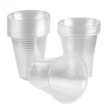 Pahare transparente, 50 buc set, 250/300 ml, dubla gradatie, Dopla