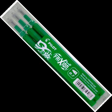 Rezerva roller 0.7mm, verde, 3 bucati/set, PILOT FriXion