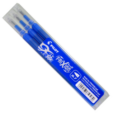 Rezerva roller 0.7mm, albastru, 3 buc/set, PILOT FriXion