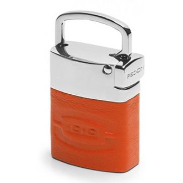 Breloc, portocaliu, din piele de bovina, FEDON Classica