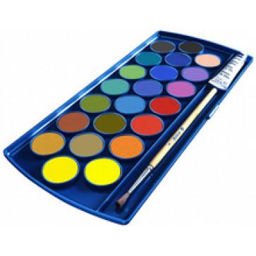 Acuarele 22 culori/set (pensula inclusa si alb de zinc), PELIKAN