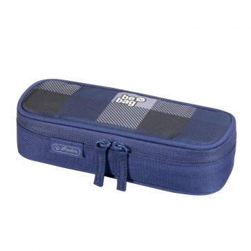 Necessaire, albastru/gri, HERLITZ Be.Bag Cube carouri