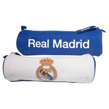 Penar tip etui, tubular, alb cu albastru, PIGNA Real Madrid
