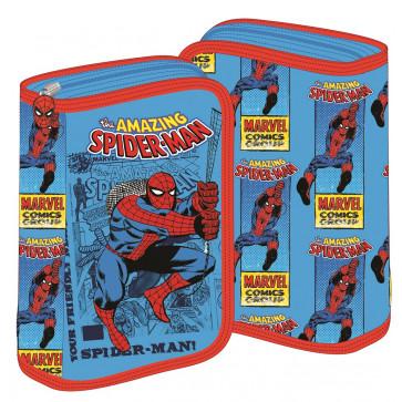 Penar neechipat, 1 fermoar, 2 extensii, bleu cu rosu, PIGNA Spiderman