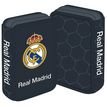 Penar neechipat, 3 fermoare, negru, PIGNA Real Madrid