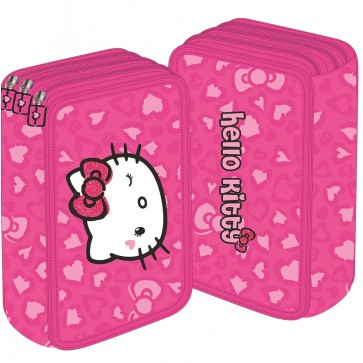 Penar neechipat, 3 fermoare, roz, PIGNA Hello Kitty
