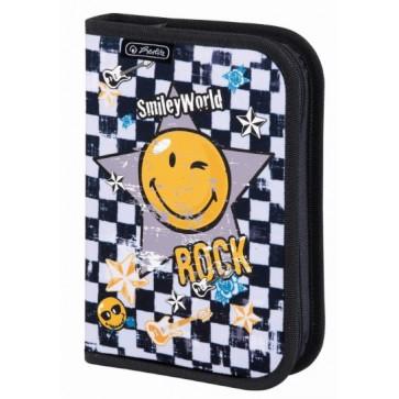 Penar neechipat cu 1 fermoar, HERLITZ, Smiley World Rock