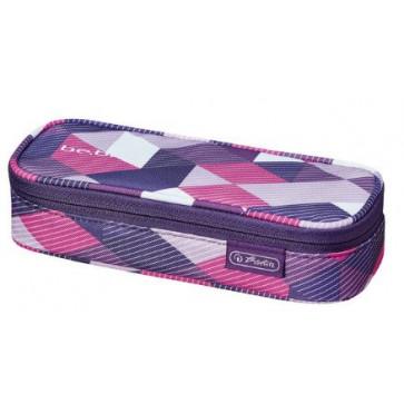Penar tip etui, HERLITZ Be.Bag Cube Purple Checked