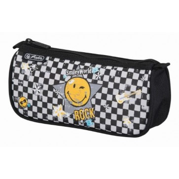 Penar tip etui, triunghiular, 1 compartiment, HERLITZ Smiley World Rock