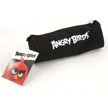 Penar tip etui, tubular, negru, PIGNA Angry Birds