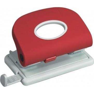 Perforator de birou, pentru maxim 15 coli, rosu, LACO L303