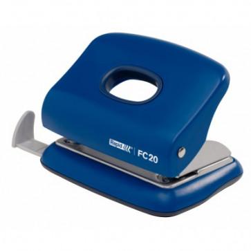 Perforator plastic de birou, pentru maxim 20 coli, albastru, RAPID FC20