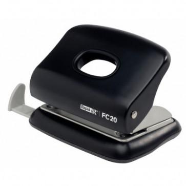 Perforator plastic de birou, pentru maxim 20 coli, negru, RAPID FC20