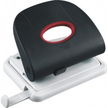 Perforator de birou, pentru maxim 25 coli, negru, LACO L300