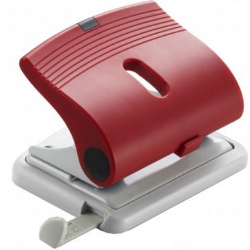 Perforator de birou, pentru maxim 25 coli, rosu, LACO L320