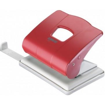 Perforator de birou, pentru maxim 25 coli, rosu, LACO L350