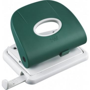 Perforator de birou, pentru maxim 25 coli, verde, LACO L300