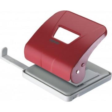 Perforator de birou, pentru maxim 30 coli, rosu, LACO L301