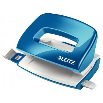 Perforator metalic de birou, pentru maxim 10 coli, albastru metalizat, LEITZ MINI 5060 NeXXt Series