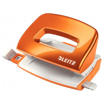 Perforator metalic de birou, pentru maxim 10 coli, portocaliu metalizat, LEITZ MINI 5060 NeXXt Series