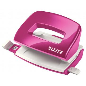 Perforator metalic de birou, pentru maxim 10 coli, roz metalizat, LEITZ MINI 5060 NeXXt Series
