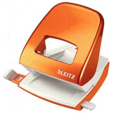 Perforator metalic de birou, pentru maxim 30 coli, portocaliu metalizat, LEITZ 5008 NeXXt Series