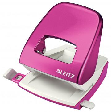 Perforator metalic de birou, pentru maxim 30 coli, roz metalizat, LEITZ 5008 NeXXt Series