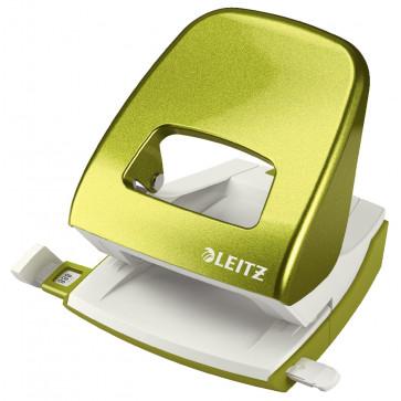 Perforator metalic de birou, pentru maxim 30 coli, verde metalizat, LEITZ 5008 NeXXt Series
