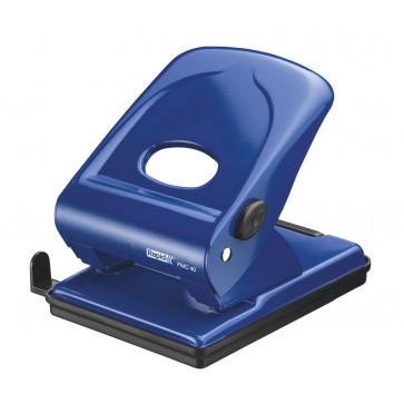 Perforator metalic Rapid FMC40, 40 de coli, albastru, cutie