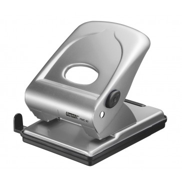 Perforator metalic Rapid FMC40, 40 de coli, argintiu, cutie
