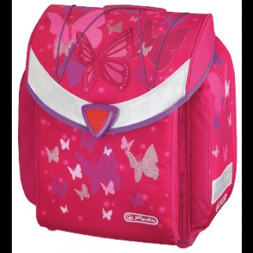 Ghiozdan ergonomic neechipat, HERLITZ Flexi Pink Butterfly
