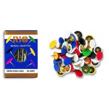 Pioneze colorate, 30 buc/cutie, RIO