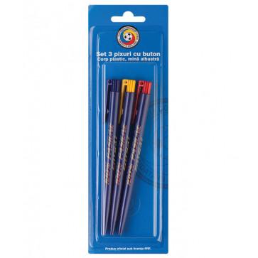 Pix cu mecanism, mina albastra, 3 buc.blister, PIGNA FRF