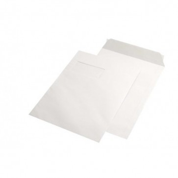 Plic C4 (229 x 324mm), siliconic, alb, 100 g/mp, cu fereastra stanga, 250 buc/cutie, GPV