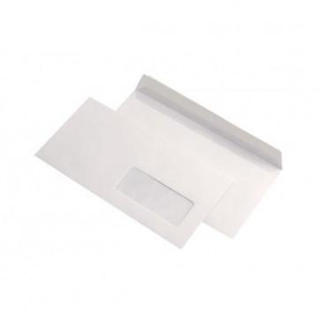 Plic DL (110 x 220mm), siliconic, alb, 80 g/mp, cu fereastra dreapta, 1000 buc./cutie, GPV