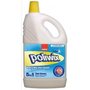 Detergent lichid cu ceara pentru pardoseli, 2 L, SANO Poliwix Lotus