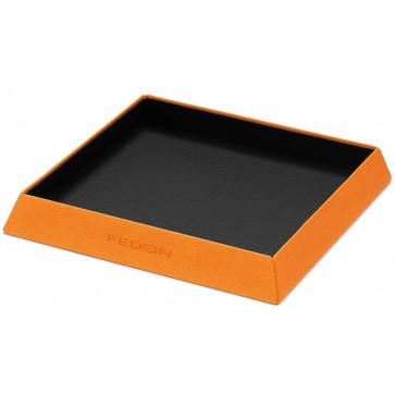 Suport diverse, din imitatie de piele, portocaliu, FEDON Charme Portatutto