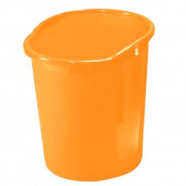 Cos de birou, 13l, portocaliu semitransparent, HERLITZ