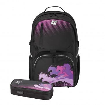 Rucsac ergonomic + penar tip etui, HERLITZ Be.Bag Cube Bundle Horse Power
