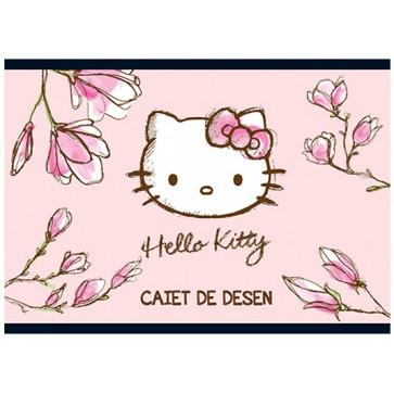Caiet pentru desen, 17 x 24cm, 16 file, PIGNA Premium - Hello Kitty