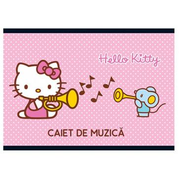 Caiet pentru muzica, 17 x 24cm, 24 file, PIGNA Premium - Hello Kitty