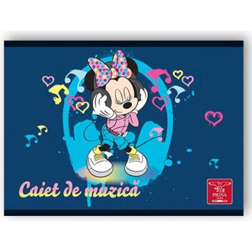 Caiet pentru muzica, 17 x 24cm, 24 file, PIGNA Premium Minnie Mouse