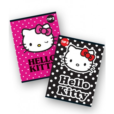 Caiet A5, 24 file, tip 2, PIGNA Premium - Hello Kitty